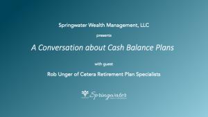 Cash Balance Plan Webinar