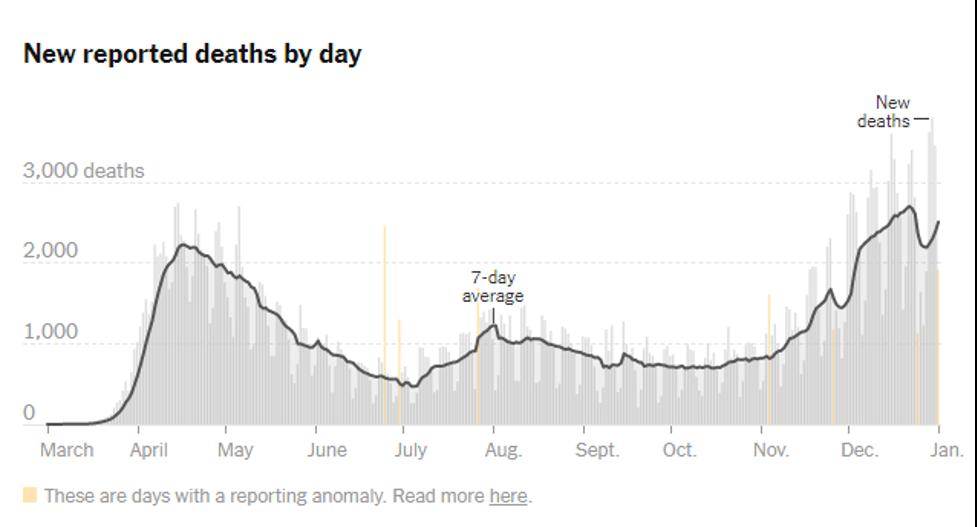 NYT Covid Deaths USA 2021 01 01