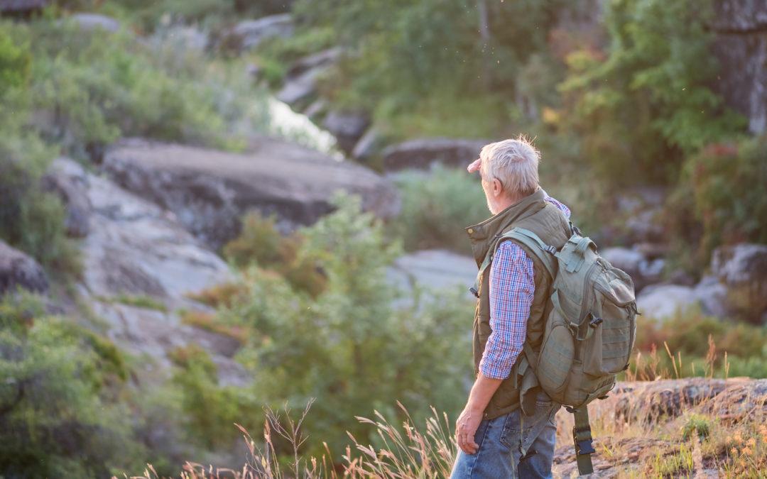 Older Man on Hike