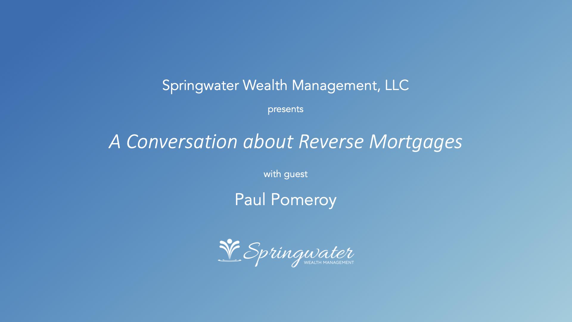 Webinar - Reverse Mortgages - Anchor Image